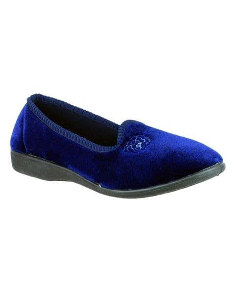 Mirak Simone Classic Ladies Slippers Navy